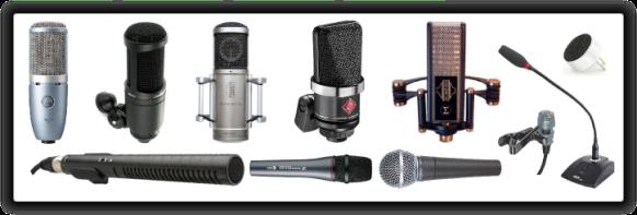 Micrófonos de todo tipo