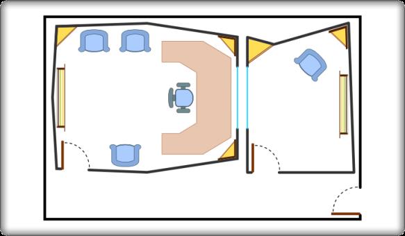 Diseño de un estudio con sala de control y sala de grabación