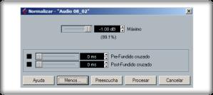 Normalizador incluido en el Cubase 5.1